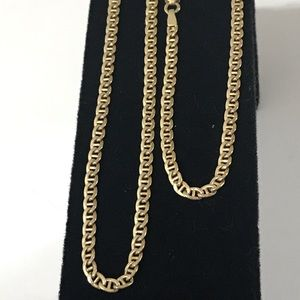 "Jewelry - 14K Gold 20"" 3mm MARINER LINK CHAIN Necklace!"